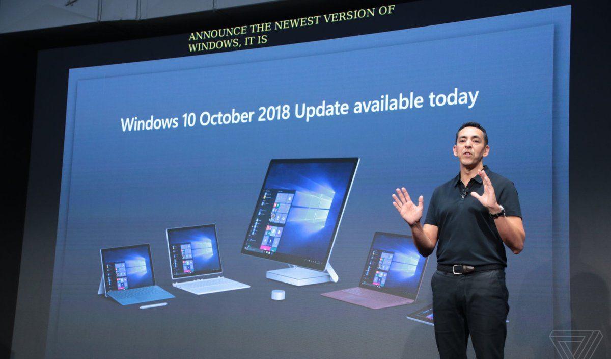 Microsoft interrompe a Atualização do Windows 10 de Outubro de 2018