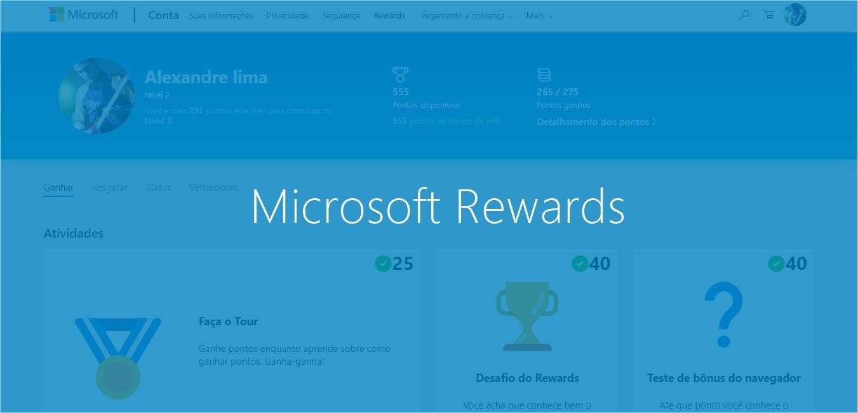 Microsoft Rewards: ingresse para ganhar Cartões Presentes e Xbox Live Gold