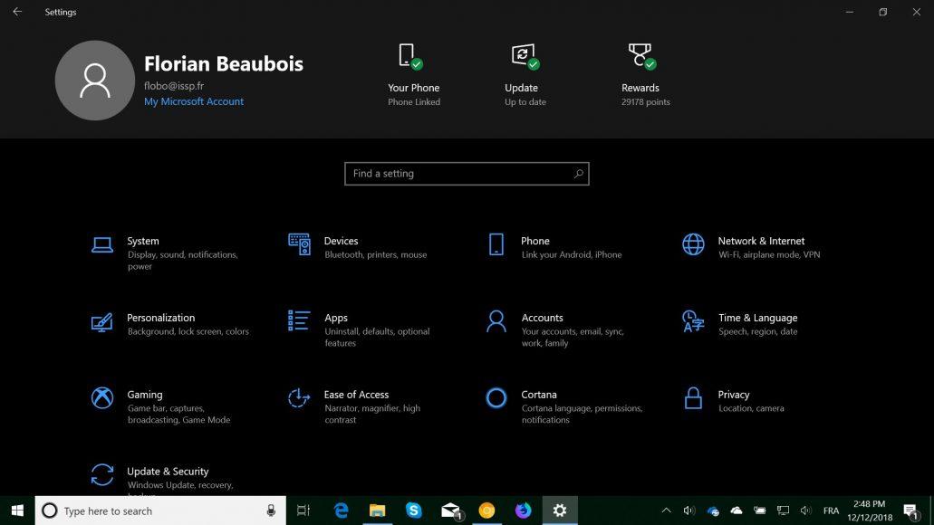 Build insider do Windows 10 revela novo Menu de Configurações