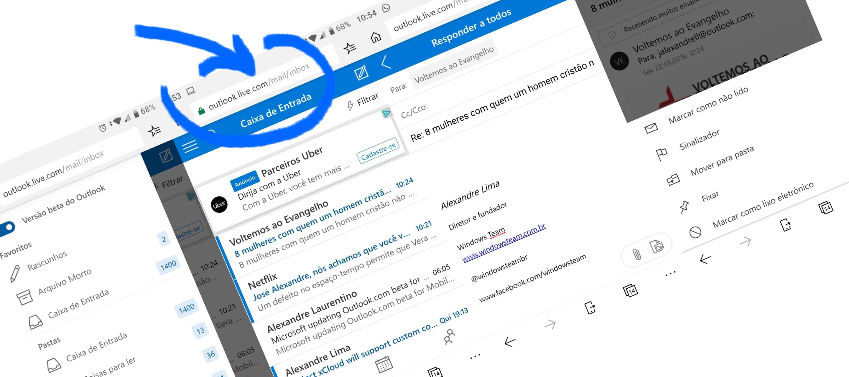 Agora ficou muito melhor acessar o Outlook.com pelo celular