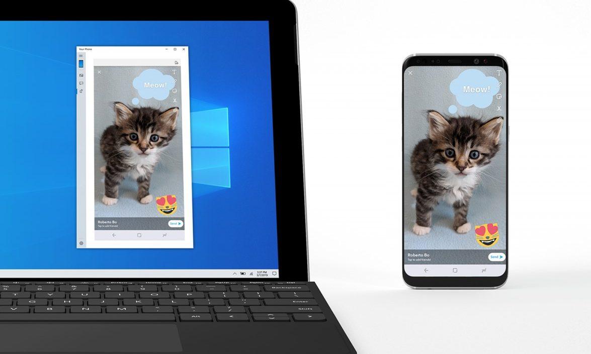 Disponível Build 19H1 do Windows 10 com espelhamento de Telefone Android