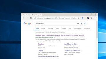 Como alterar o mecanimo de busca padrão do novo Microsoft Edge?