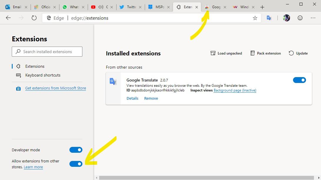 Como instalar extensões do Google Chrome no Microsoft Edge