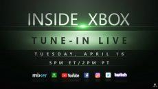 Acompanhe conosco ao vivo o Inside Xbox de abril de 2019