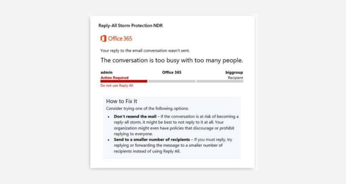 Proteção contra 'Responder a Todos' em Office 365