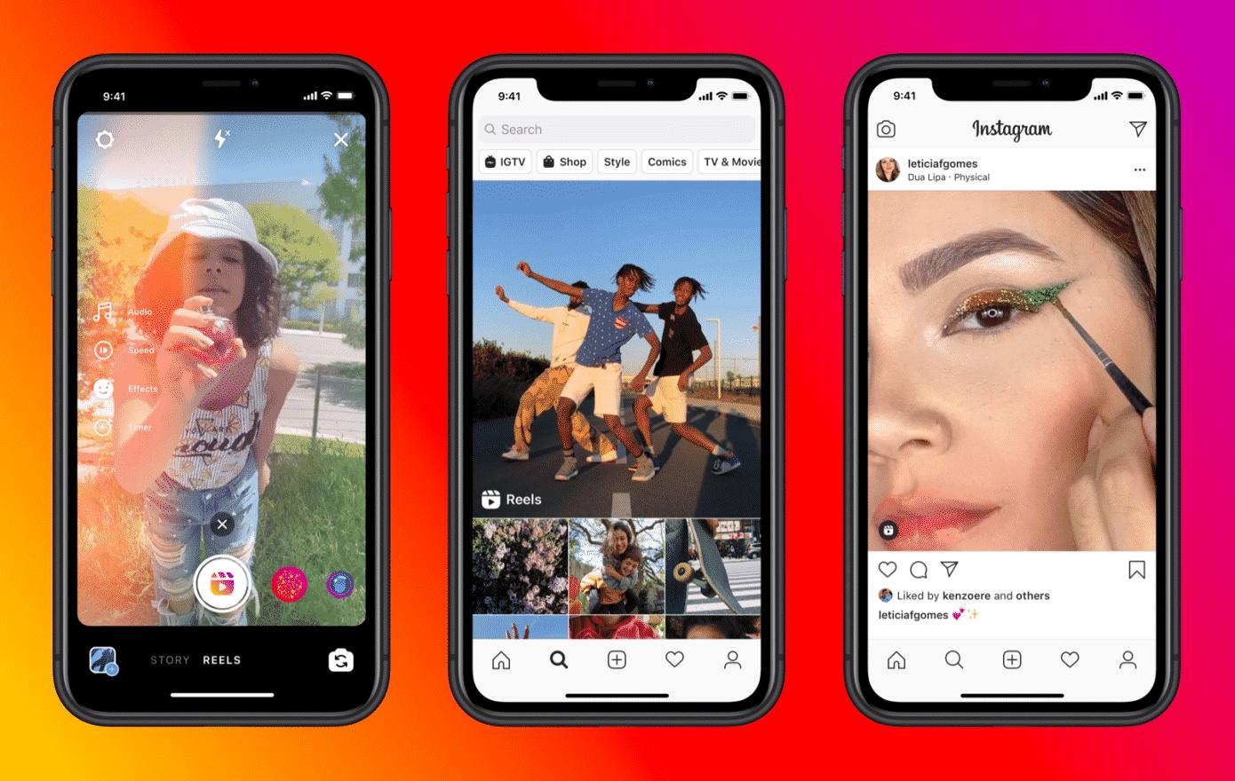 Instagram Reels se expande para concorrer com o Tiktok