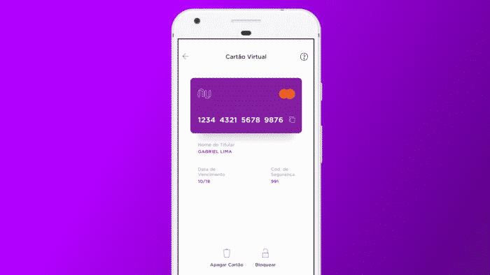 Nubank libera cartão virtual de débito para compras online