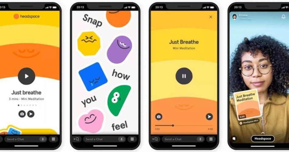 O Snapchat agora possui meditação dentro do aplicativo