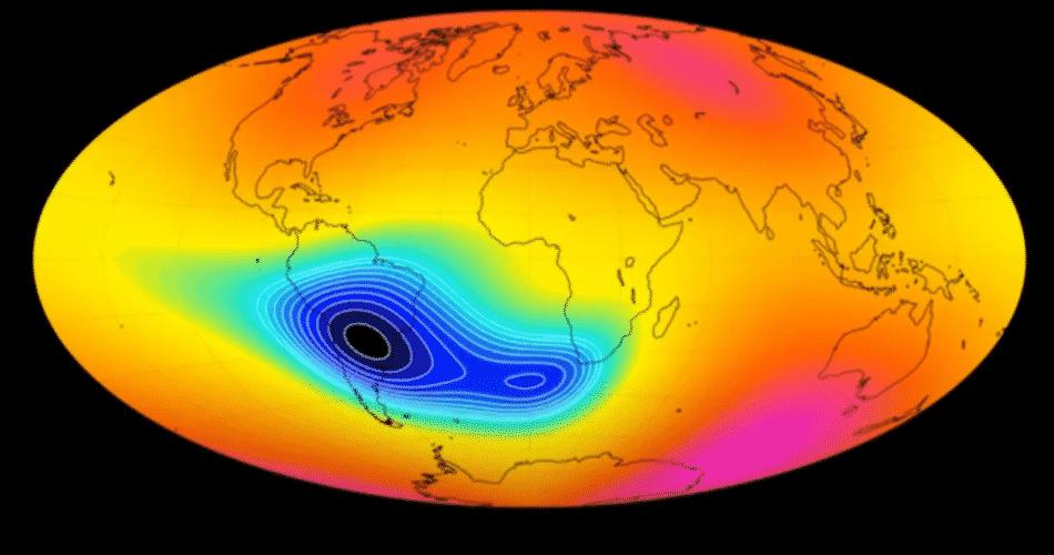 Misteriosa anomalia que enfraquece o campo magnético da Terra é mais velha do que pensamos