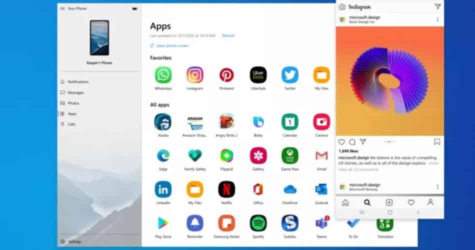 Microsoft integra aplicativos Android ao Windows 10 com nova atualização