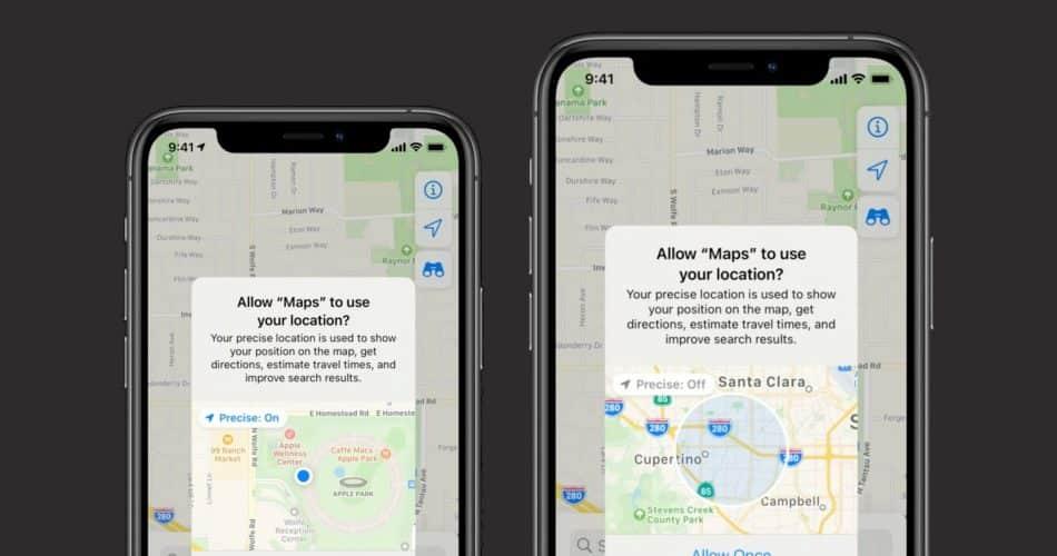 O novo iOS 14 permite que os usuários concedam acesso aproximado à localização