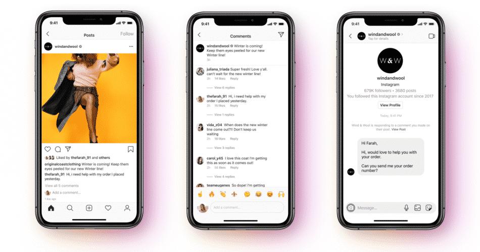 O Facebook apresenta uma nova API do Messenger com suporte para Instagram