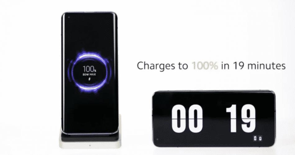 Xiaomi mostra carregamento sem fio de 80W que pode encher uma bateria em 19 minutos