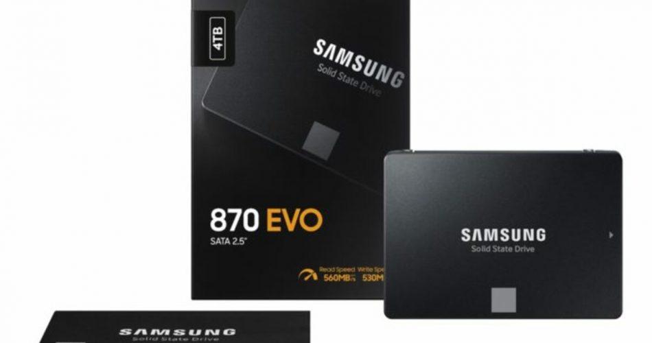 SSDs Samsung 870 Evo têm até 4 TB e preço a partir de US$ 50