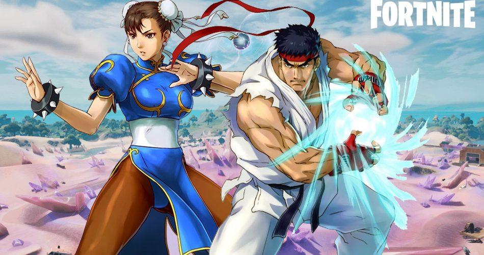 Ícones do Street Fighter Chun-Li e Ryu estão se juntando ao Fortnite