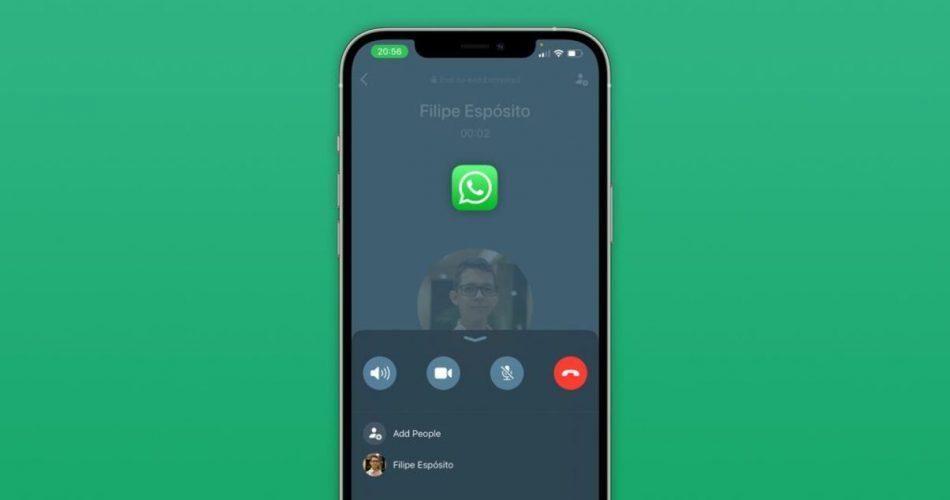WhatsApp lançando nova interface de chamada para usuários do iPhone